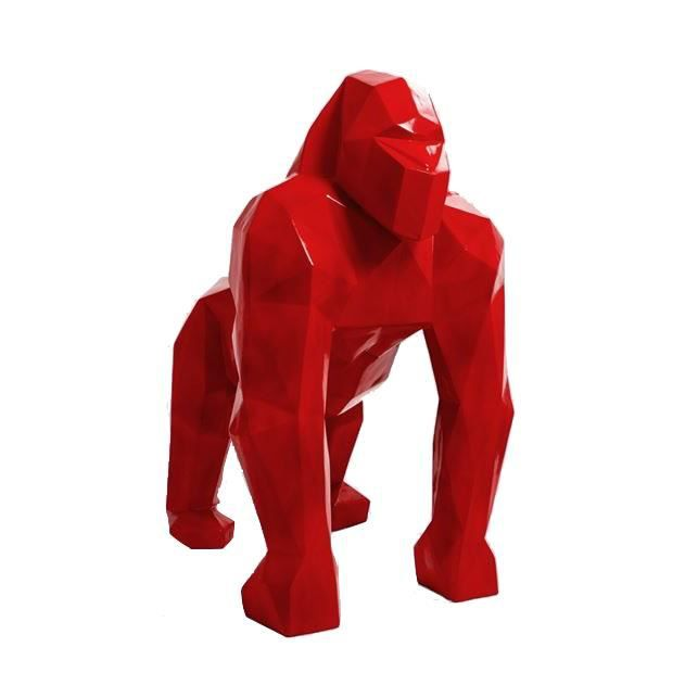 Pourquoi s'offrir un gorille en résine rouge ?